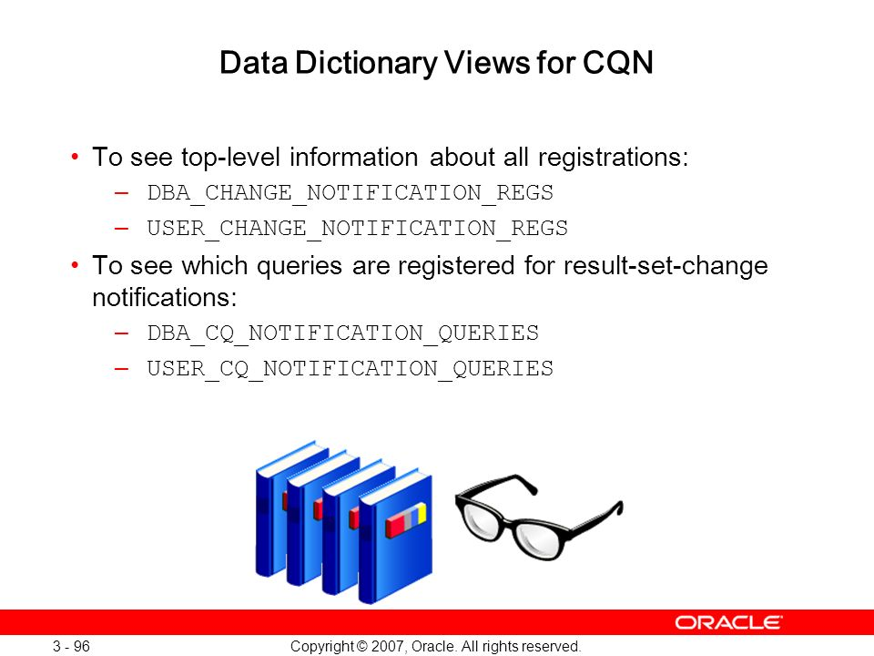 Data Dictionary Views for CQN