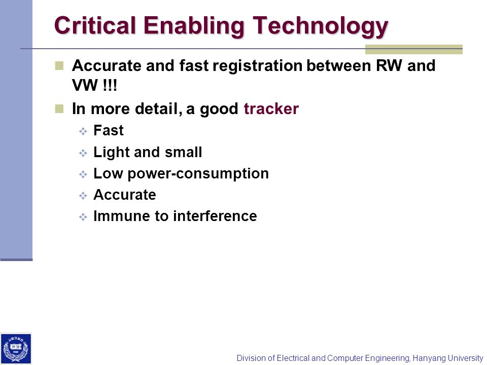 Critical Enabling Technology