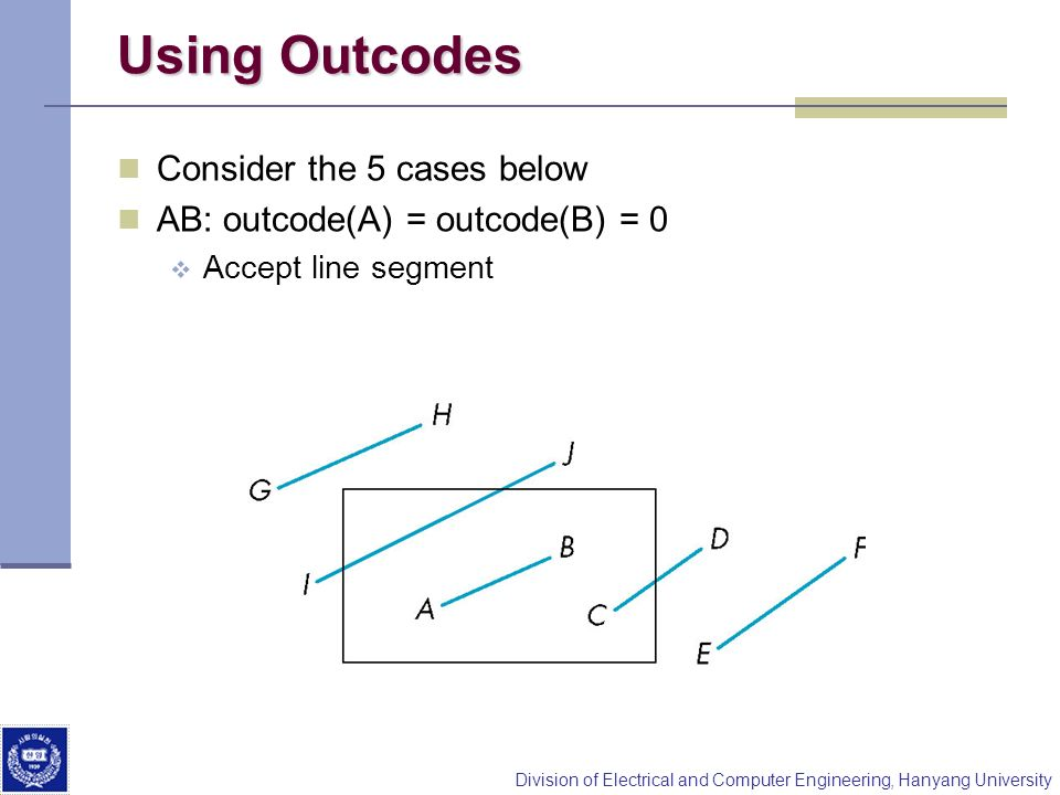 Using Outcodes Consider the 5 cases below