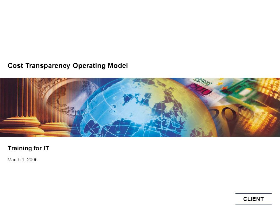 Cost Transparency Operating Model