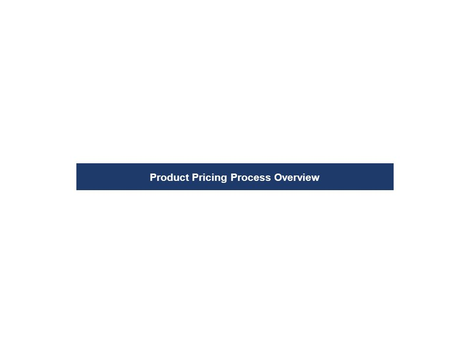 Product Pricing Process Overview