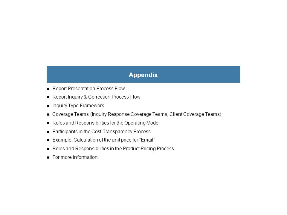 Appendix Report Presentation Process Flow