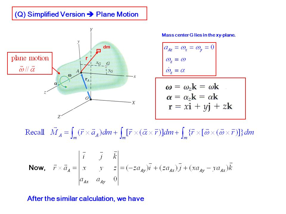 (Q) Simplified Version  Plane Motion