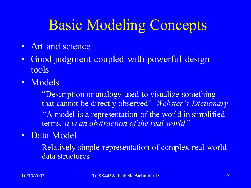 Basic Modeling Concepts