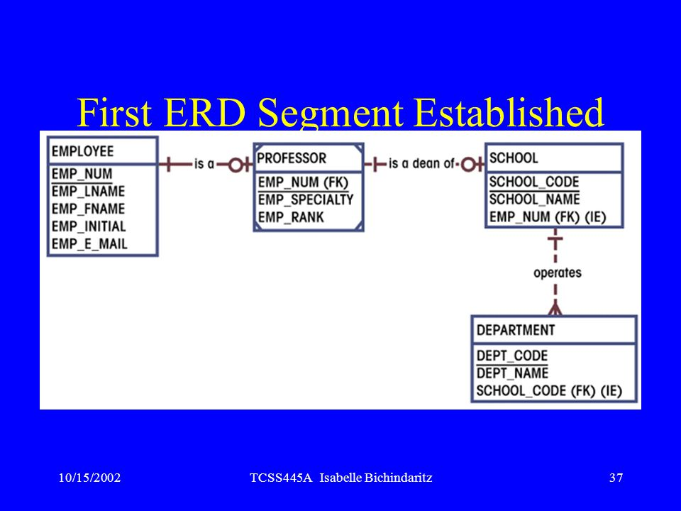 First ERD Segment Established