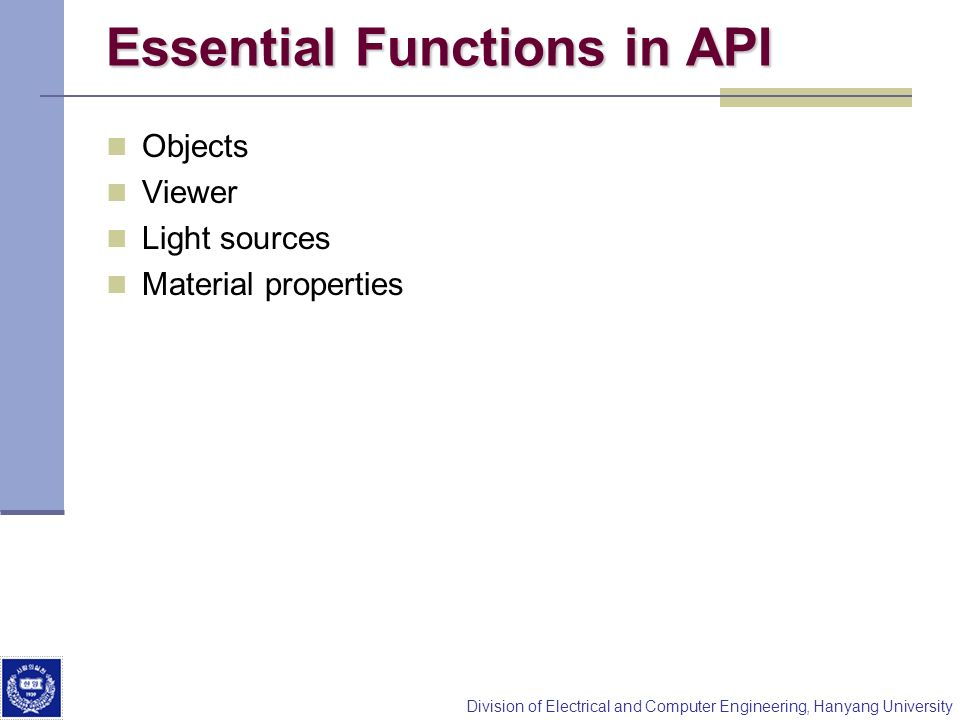 Essential Functions in API