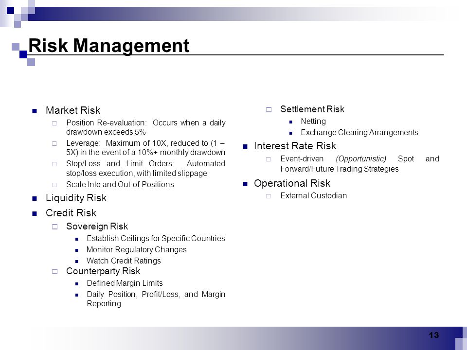 Risk Management Market Risk Interest Rate Risk Operational Risk