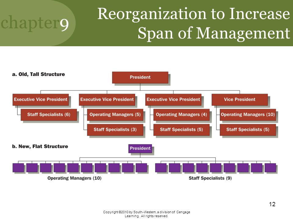 Reorganization to Increase Span of Management
