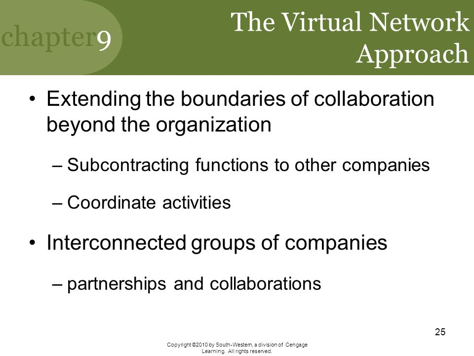 The Virtual Network Approach