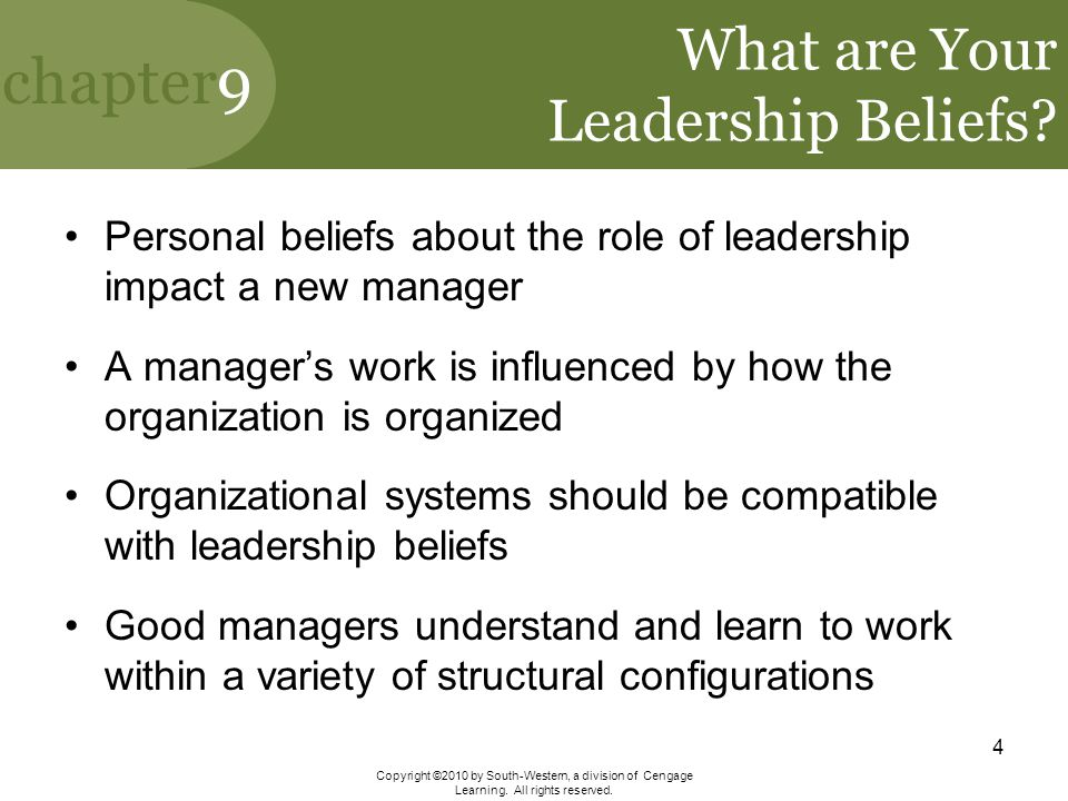 What are Your Leadership Beliefs