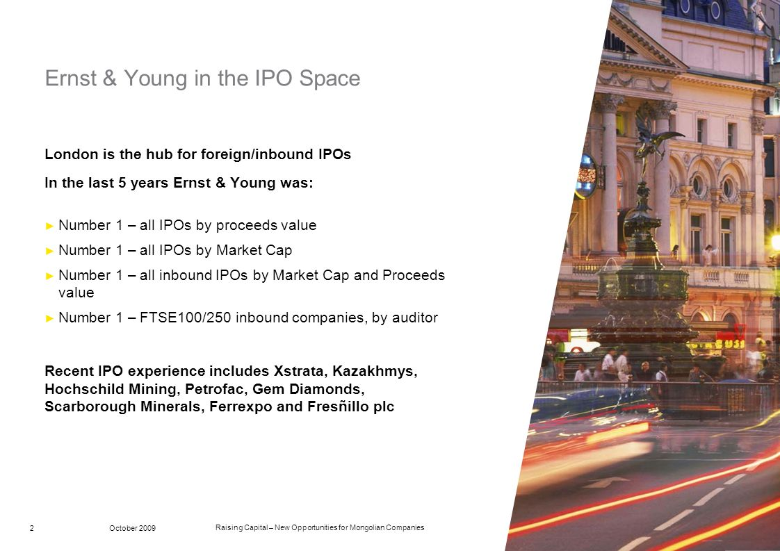 Ernst & Young in the IPO Space