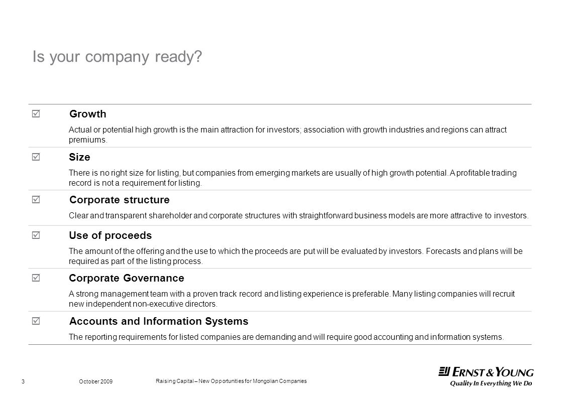 Is your company ready  Growth Size Corporate structure