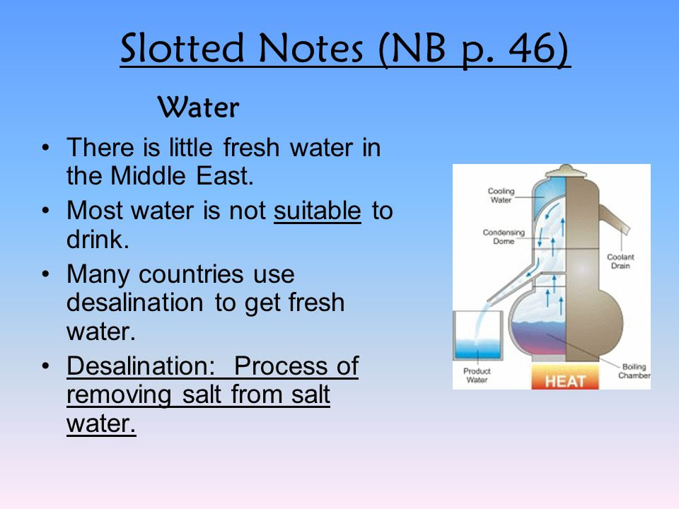 Slotted Notes (NB p. 46) Water
