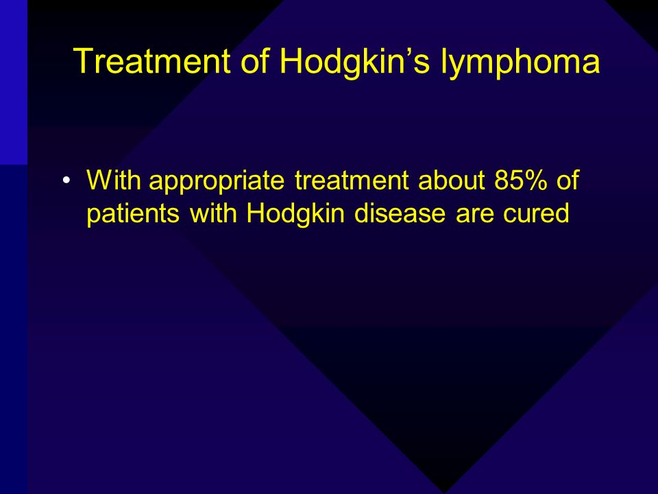Treatment of Hodgkin's lymphoma