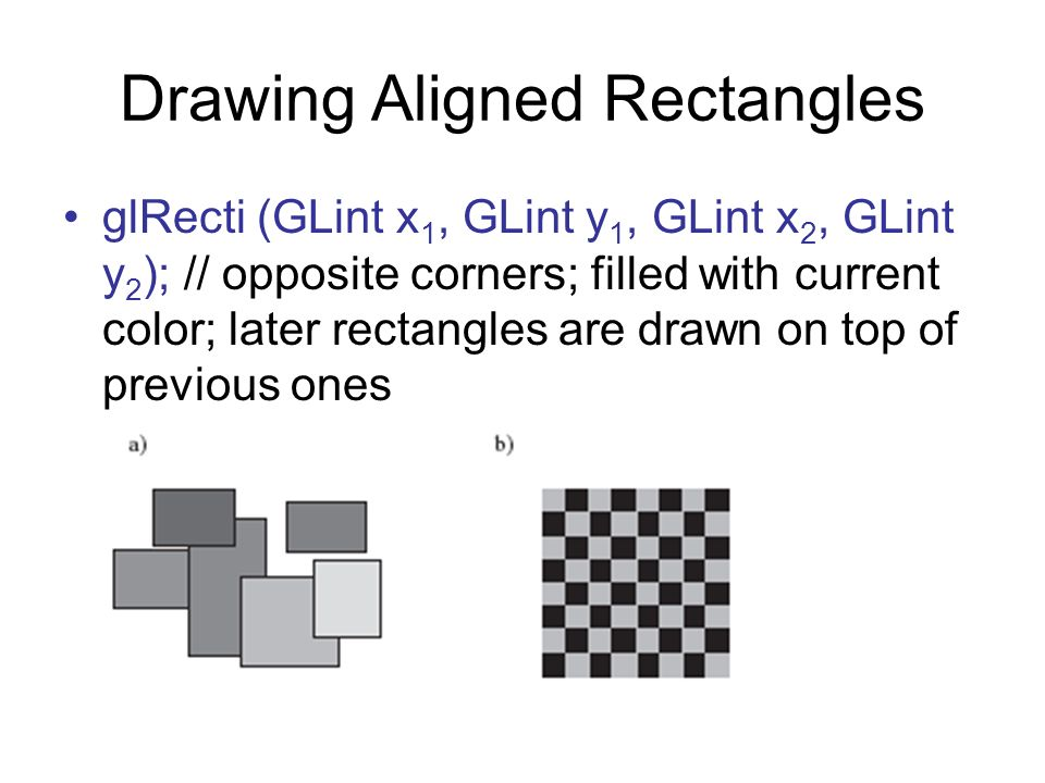 Drawing Aligned Rectangles