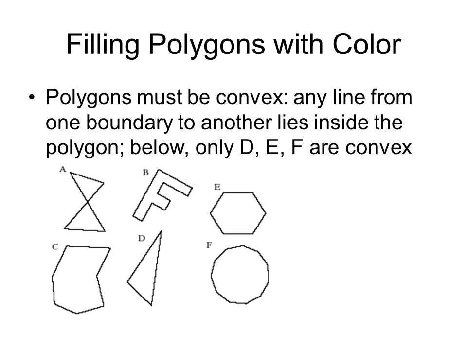 Filling Polygons with Color