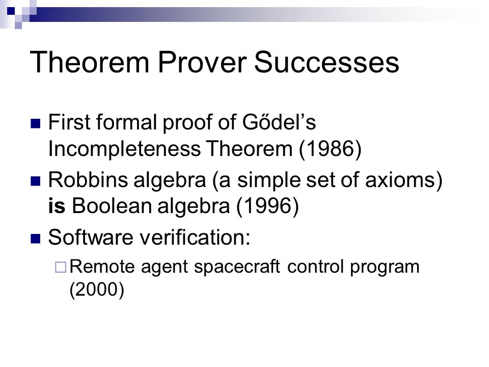 Theorem Prover Successes
