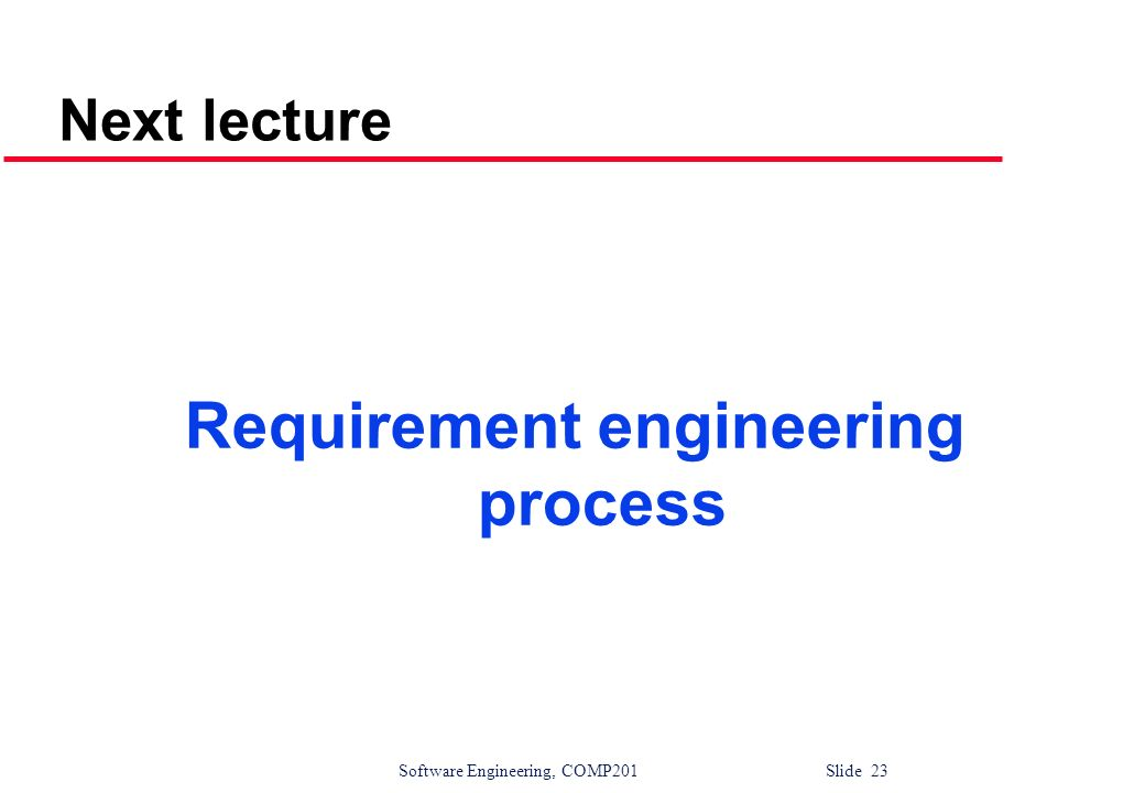 Requirement engineering process