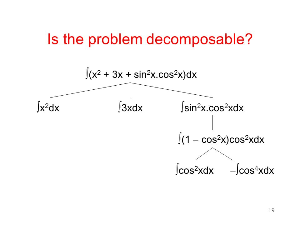 Is the problem decomposable