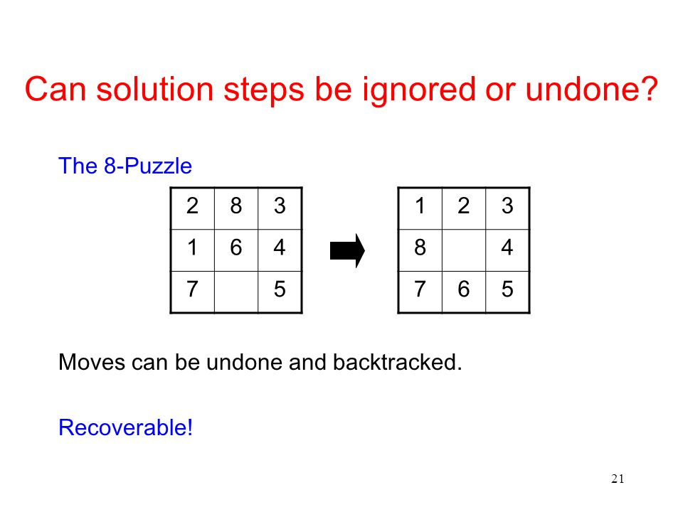 Can solution steps be ignored or undone
