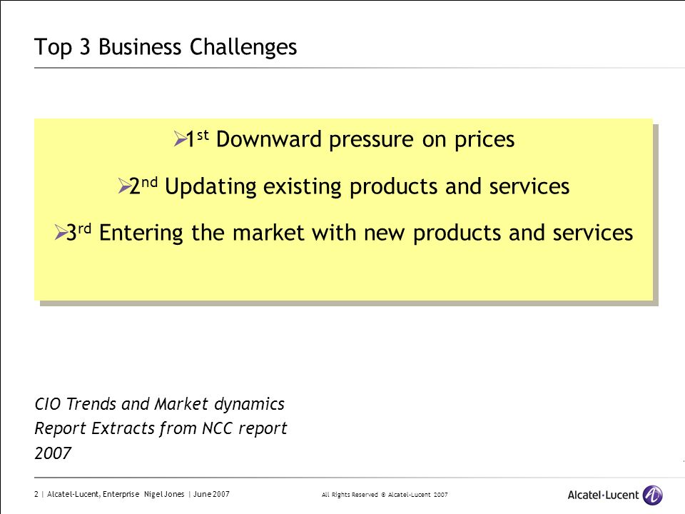 Top 3 Business Challenges