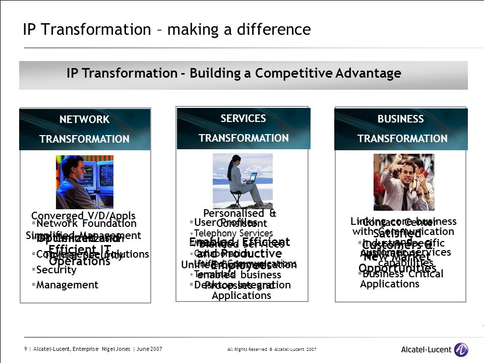 IP Transformation – making a difference