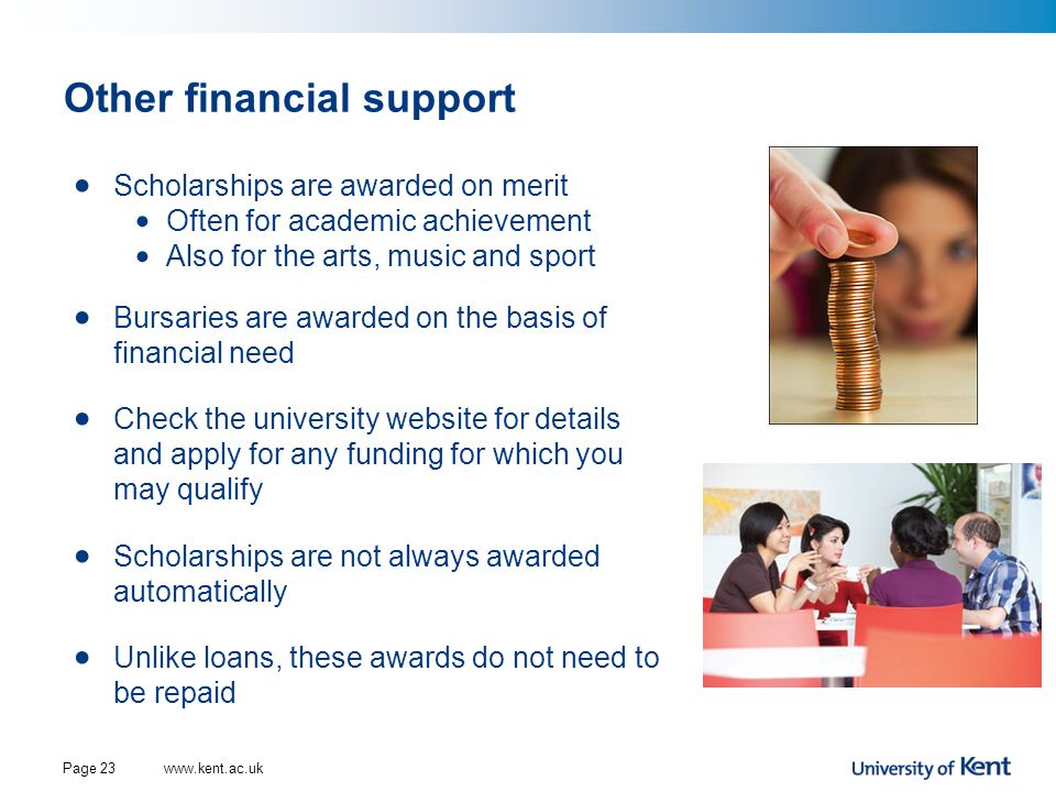 Other financial support
