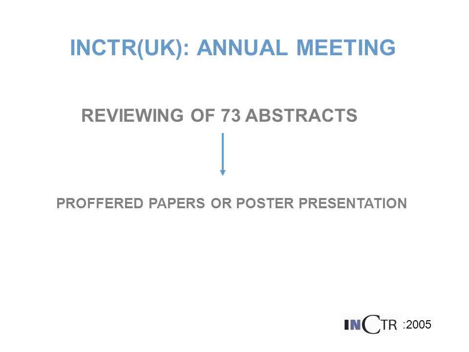 INCTR(UK): ANNUAL MEETING