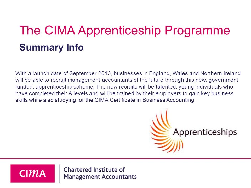 The CIMA Apprenticeship Programme