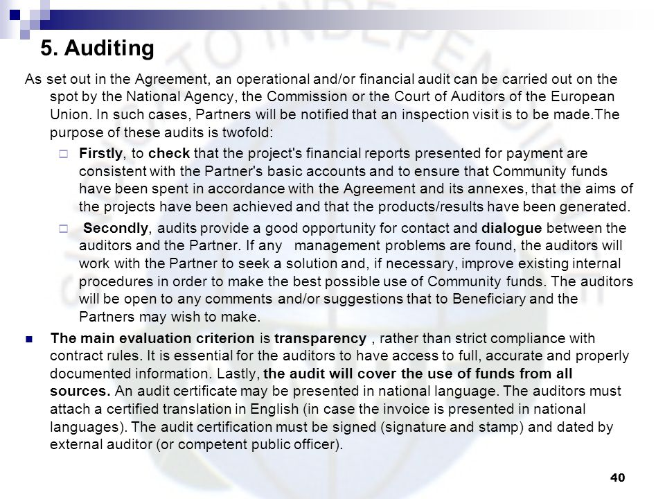 5. Auditing