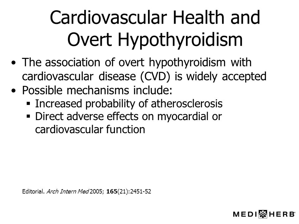 Cardiovascular Health and Overt Hypothyroidism