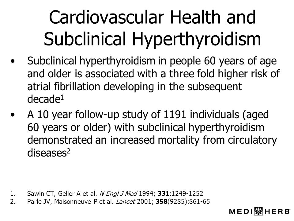 Cardiovascular Health and Subclinical Hyperthyroidism