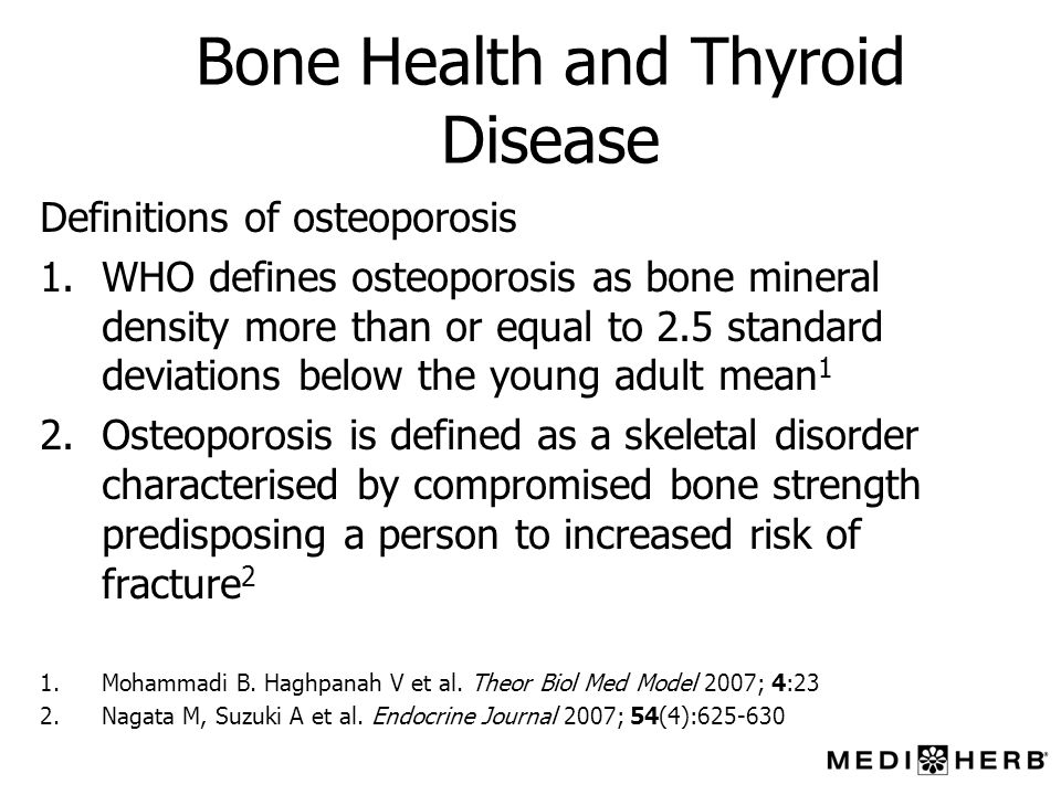 Bone Health and Thyroid Disease