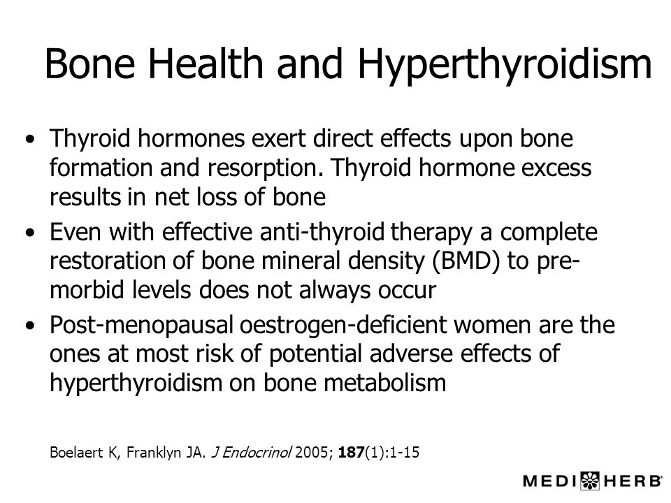 Bone Health and Hyperthyroidism