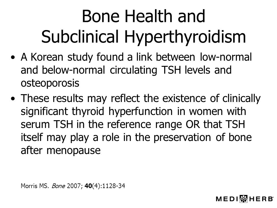 Bone Health and Subclinical Hyperthyroidism