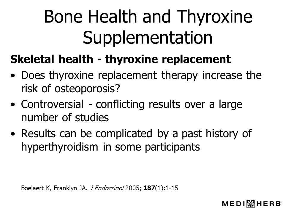 Bone Health and Thyroxine Supplementation