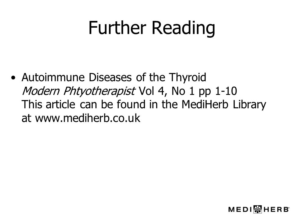 Further Reading Autoimmune Diseases of the Thyroid
