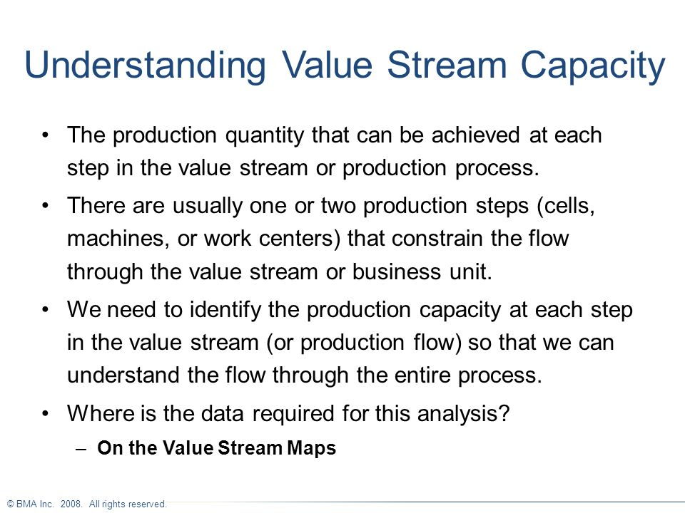 Understanding Value Stream Capacity