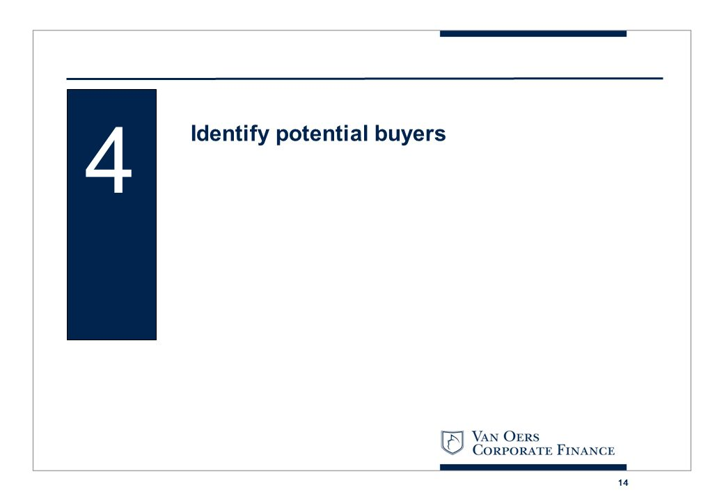 4 Identify potential buyers