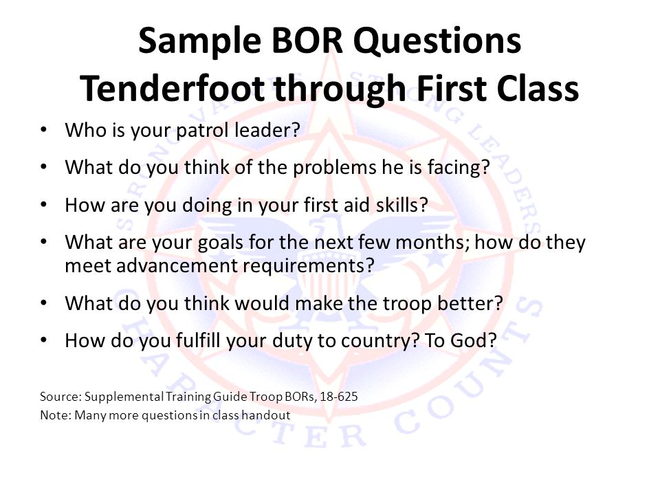 Troop 888 Scoutmaster Conference And Board Of Review Training Ppt
