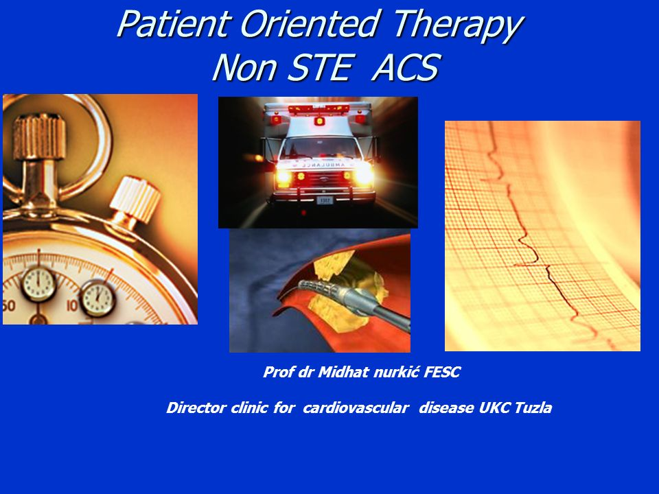 Patient Oriented Therapy Non STE ACS