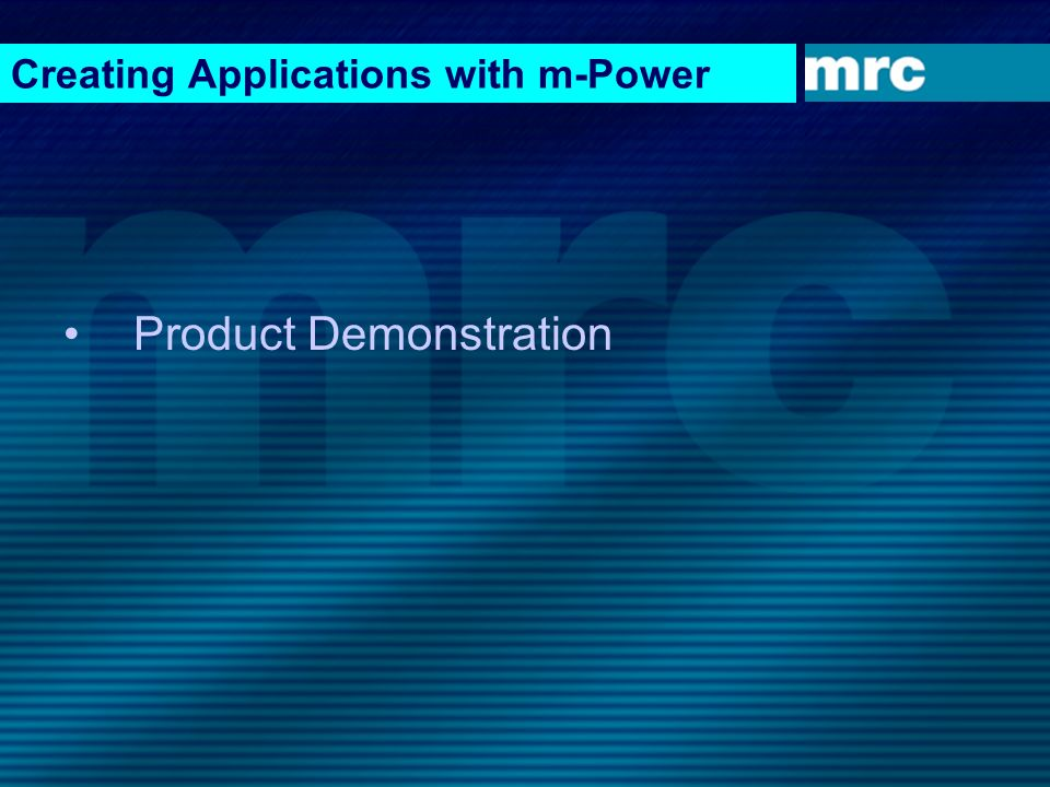 Creating Applications with m-Power