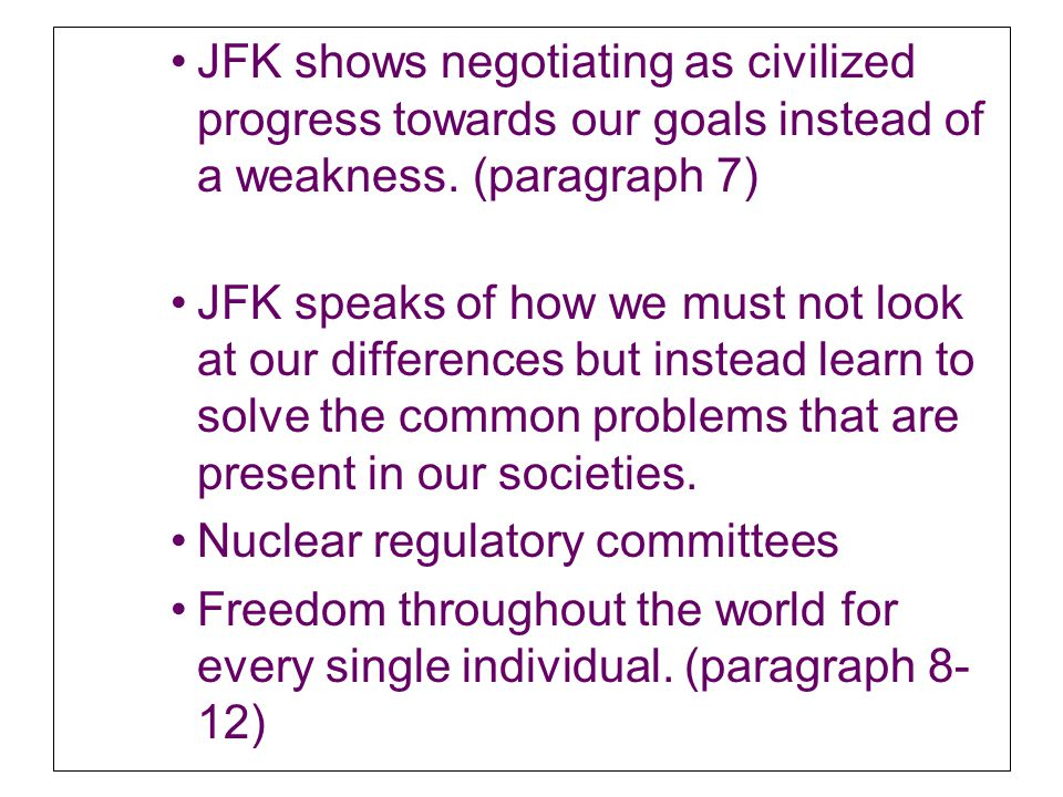 comparing and contrasting mlks letter to birminingham to jfks inaugural address speeches Poetry and power: john f kennedy's inaugural address on january 20, 1961 a clerk of the us supreme court held the large fitzgerald family bible as john f kennedy took the oath of office to become the nation's 35th president.