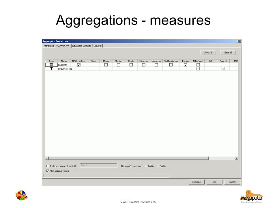 Aggregations - measures
