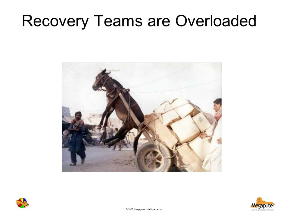 Recovery Teams are Overloaded