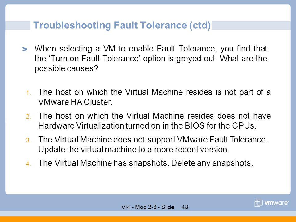 VMware vCenter Server Fault Tolerance - ppt download