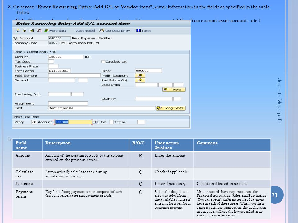SAP FI-GL End User –GL Step by step training - ppt download