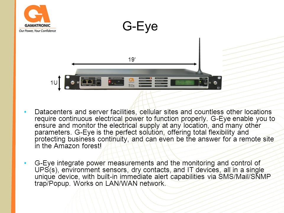 G-Eye Extending your monitoring & control capabilities - ppt