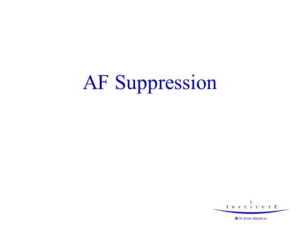 AF Suppression