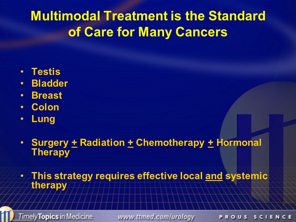 Multimodal Treatment is the Standard of Care for Many Cancers